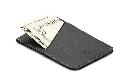 Bellroy Herren Leder Geldbörse und Karten Etui Card Sleeve, Farbe: Blue Steel Black