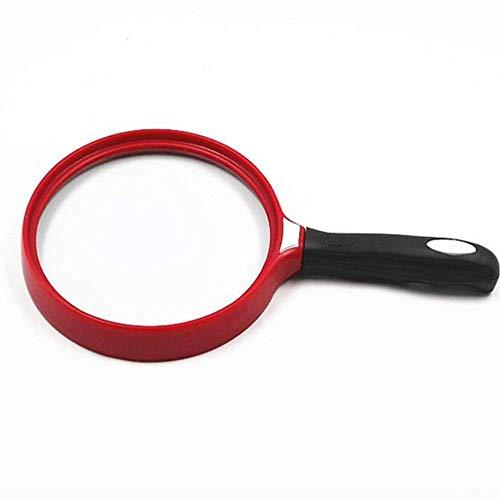 AZWE Vision Aids Handheld Großer Spiegel Lupe 140 Mm Hochwertige Alte Lesung Ultraleichte Lupe Reparatur Zeitung Abs Rahmen, Optische Glasfolie Liefert