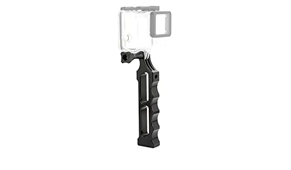 Color : Black Durable Aluminum Alloy Tactical Hand Holder Grip for DJI New Action GoPro New Hero //HERO7 //6//5 //5 Session //4 Session //4//3+ //3//2 //1 Black Xiaoyi and Other Action Cameras