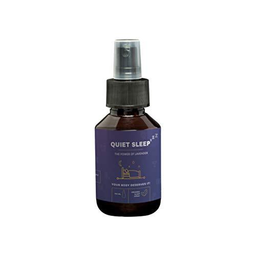 Lavendelspray Quiet Sleep | 100ml Lavendel Gute Nacht Spray | Lavendelöl zum Gut Schlafen | Natürliche Schlaf Pillen & Schlafmittel Alternative