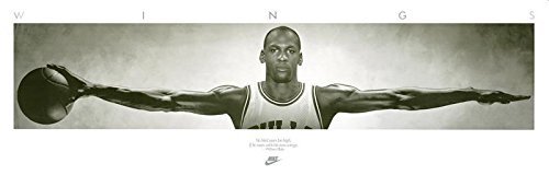 Close Up Michael Jordan Poster Wings (182,5cm x 58cm) + Original tesa Powerstrips® (1 Pack/20 STK.) -