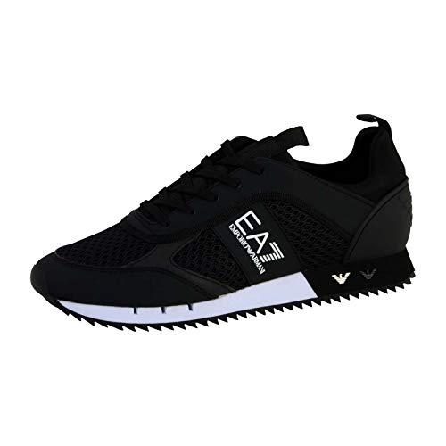 Emporio Armani EA7 Laces U Sneaker Herren Schwarz - 43 1/3 - Sneaker Low