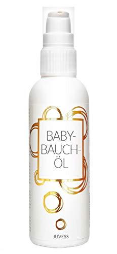 JUVESS BABY-BAUCH-ÖL - Natürliche Pflege zur Vorbeugung von Schwangerschaftsstreifen mit Mandelöl, Jojobaöl und Arganöl (Bauch Schwanger öl)