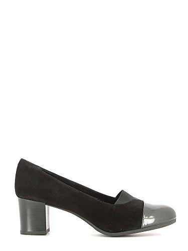 Grunland Ciac Sc2321 Noir Souris Chaussures Femme Décolleté Élastique Topo-noir