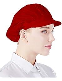 Nanxson 3pcs Unisex Color sólido Taller Industrial Sombreros de Cocina de Trabajo Protectores CF9035