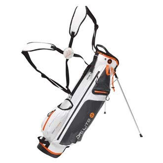 BIG MAX Dri Lite 7 Standbag - Ultraleicht & Wasserabweisend - 2017 (White/Charcoal/Orange)