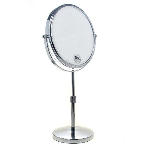 TUKA Standspiegel Höhenverstellbar 7 fach Vergrößerung, 8 inch Schminkspiegel Kosmetikspiegel,...