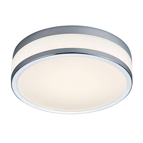 Helestra Zelo LED Deckenleuchte Ø29cm, chrom opal mit Bewegungsmelder T 8,5cm Ø 29cm 2900K 1420lm