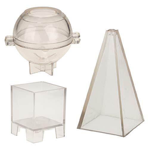 Baoblaze Pyramide Kugel Quadrat Seifenformen Kunststoff Seifenform Kerzenform Kugel Gießform -