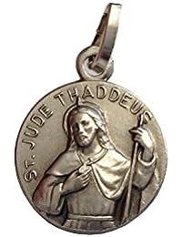 Medalla de San Judas Tadeo Apóstol de Plata Maciza 925 - Patrono de casos imposible
