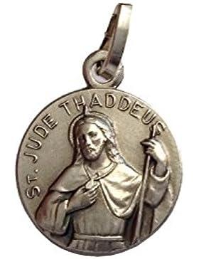 925 Sterling Silber Medaille des heiligen Judas Thaddäus der Apostel