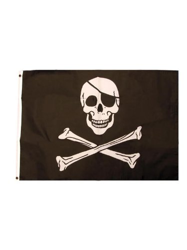 Smiffy's - Piraten-Flagge, 92cm x 61cm