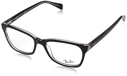 Ray-Ban Damen 0rx 5362 2034 52 Brillengestelle, Schwarz (Top Black On Transparente),