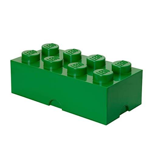 LEGO Aufbewahrungsstein, 8 Noppen, Stapelbare Aufbewahrungsbox, 12 l, grün -