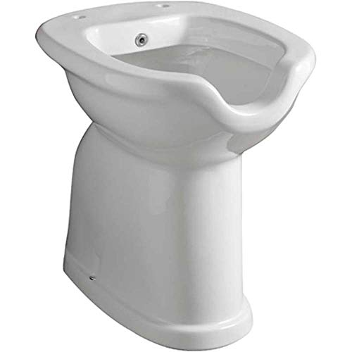 Sanitari bagno ceramica vaso / bidet disabili completo di erogatore pavimento