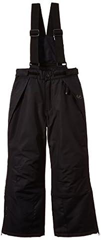 Ultrasport Arlberg Children's Ski and Snowboard Trousers with Ultraflow 2000 - black, 152-158 cm