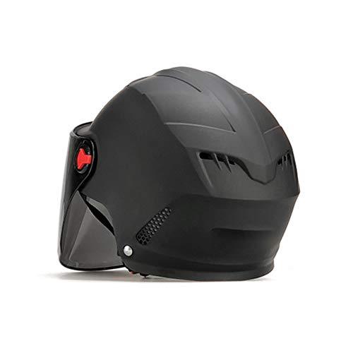 WNLBLB Casco Moto eléctrico Medio Casco protección