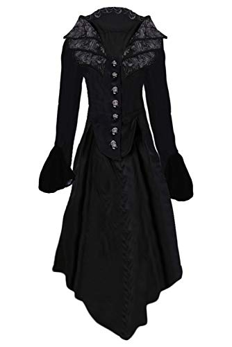 Barock Kostüm Xxl - Huiyemy Damen Steampunk Barock Mantel, Gothic