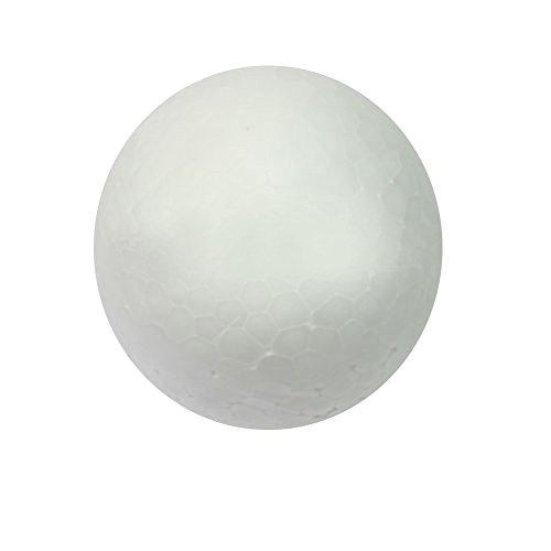 Greenlans 10PCS 50mm 60mm Styropor Kreativ DIY Craft Weiß Schaumstoff Ball Kugeln Ornament, weiß, 6 cm