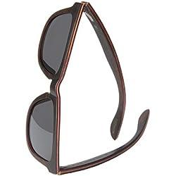 WOLA estilo cuadradas gafas de sol en madera AERO mujer y hombre madera, sunglasses UV400 - polarisado ébano