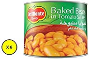 Del Monte Canned Baked Beans , 220 gms -(Pack of 6)