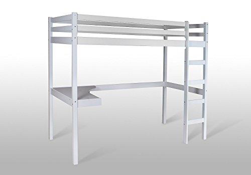 Eternity-Möbel Hochbett Spielbett – Pino – Kinderbett Jugendbett Etagenbett Bett Schreibtisch