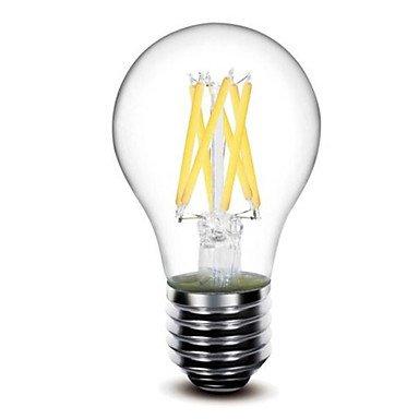 HZZymj-1 pieza shenmeile E26/E27 6W 6 COB 600 LM Blanco Cálido G60 edison Cosecha Bombillas de Filamento LED AC 100-240 / AC 110-130 V , 110-120v