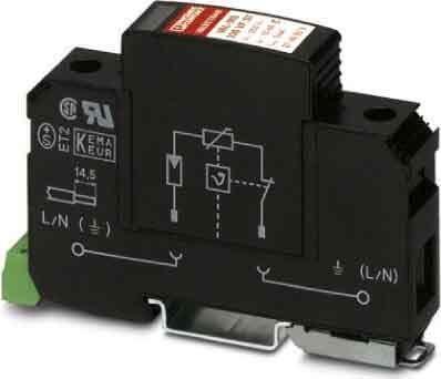 Phoenix Contact Typ 2-Ableiter 1-kanalig Val-MS 350 VF/FM Überspannungsableiter für Energietechnik/Stromversorgung 4017918876852