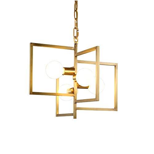 Gut Gemacht Nordischen Stil Restaurant Licht Bar Kupfer Kronleuchter Post Moderne Kreative Persönlichkeit Einfache Moderne Esszimmer Esstisch Lampe LED * 4,52 * 45 Cm wunderschönen -