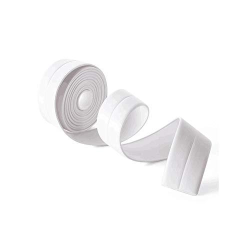 PILIBEIBEI Gap Moldproof wasserdichtes Antifouling-Band, Wand-Dichtungsband-Form-Beweis-Klebeband-Küchen-Badezimmer (Weiß)