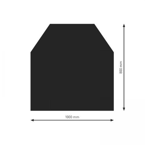 Schindler + Hofmann PU052-0B2-sw Bodenplatte B2 6-Eck schwarz pulverbeschichtet 1200 x 1000 mm