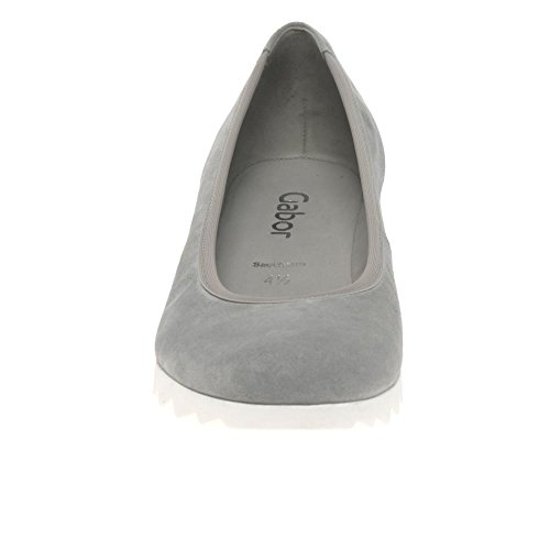 Gabor Shoes Basic, Ballerine Donna Grey Suede/White