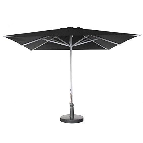 Parasol - Patio Carré 3x3m O'Bravia 300g/m2 Anthracite + Pied pour Patio
