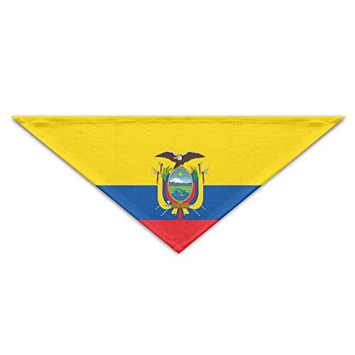 Tragen Kostüm Hunde Zum Geschenk Verkauf - Gxdchfj Pet Scarf Flag of Ecuador Bandana Triangle Neckerchief Bibs Scarfs Accessories for Pet