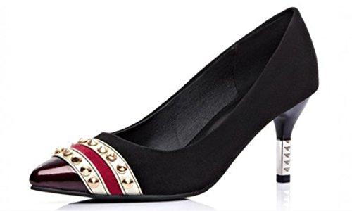 YCMDM Femmes Chaussures Uniques Chaussures à Talons Chaussures Printemps Black