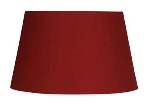 Oaks Lighting Lampenschirm aus Baumwolle, zylindrisch, rot