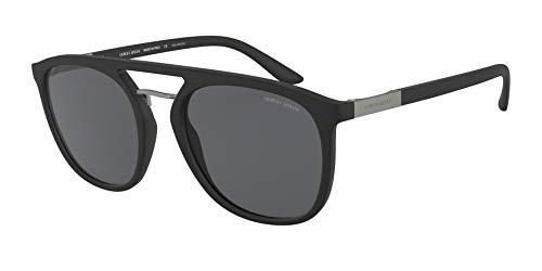 Ray-Ban Herren 0AR8118 Sonnenbrille, Braun (Matte Black), 53.0
