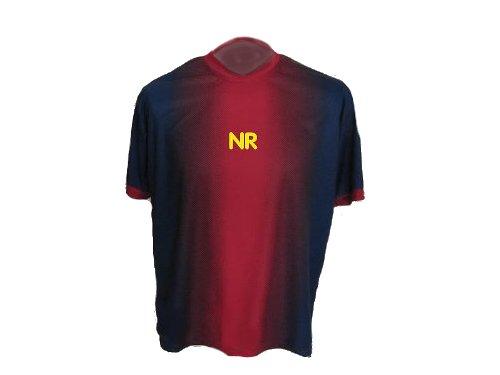 Rot Blau Gestreiftes Trikot mit Wunschname + Nummer in Kindergrösse 98 (Jugend-fußball-torwart Trikot-mädchen)