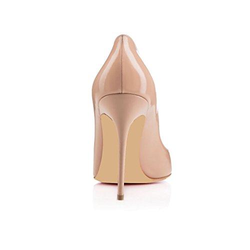 EDEFS Damenschuhe Faschion Forneille 100MM High Heel Pointed Toe Pumps Schuhe Beige