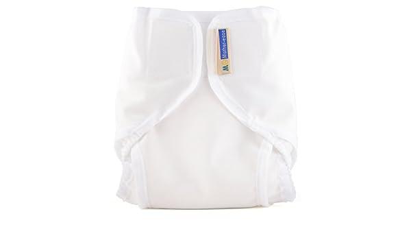 Mother-ease Rikki PUL wrap white medium 10-20 lbs
