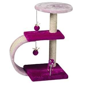 Flamingo - Arbre À Chat : Grattoir Clip 30X30 Haut:54Cm Violet