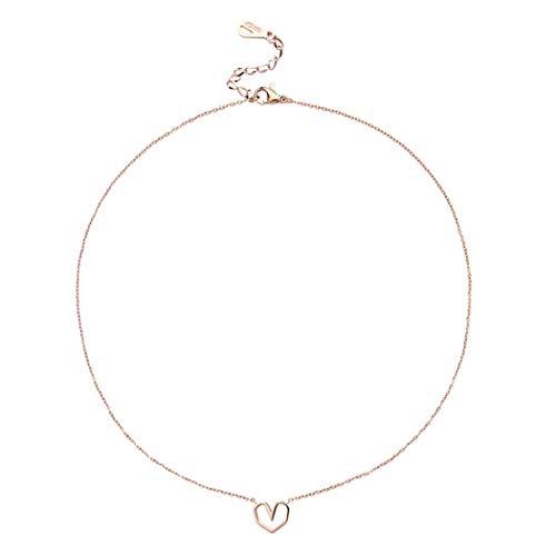 NSXLSCL Frauen Chokerhalsketten Minimalistischer Wind Hohle Hohle Anhänger Halskette Schlüsselbein Kette Hochzeit Party Schmuck Für Frauen - Dancing Diamant-ring