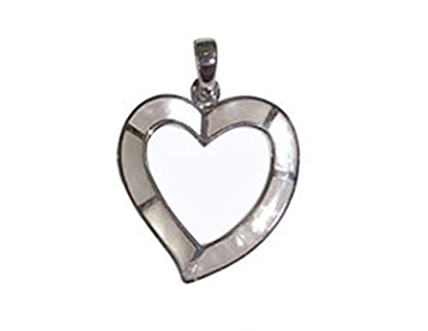 Mother of Pearl & 925 Sterling Silver Heart