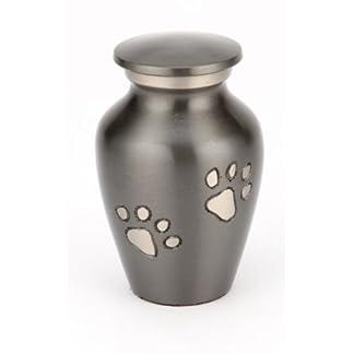 "Urns UK Memorial Cremation Urn Matlock, Black 3"" Keepsake 10"