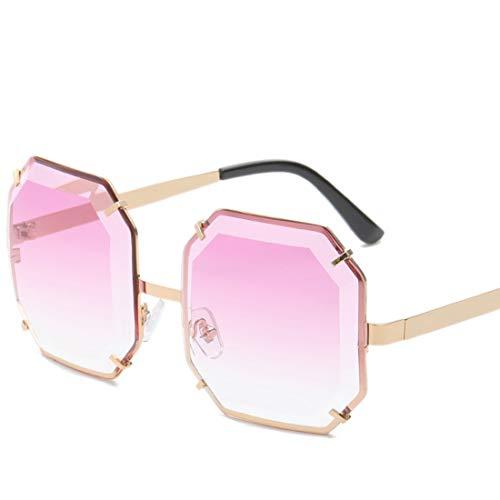 Ploekgda Übergroße Sonnenbrille für Damen mit quadratischer Spiegellinse und polarisierte Sonnenbrille (Color : D)