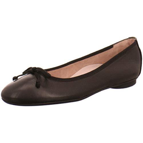 2598 225 - Bailarina clásica de Piel Lisa para Mujer, Color Negro, Talla 43 EU
