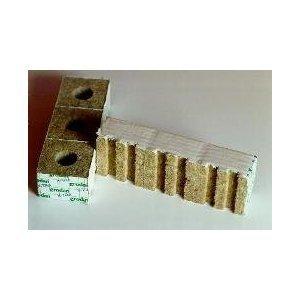 Gro-Blocks - 3 in. x 3 in. x 2.5 in. 8 Wrapped Blocks - DM4 (Rockwool / Stonewool) Grodan by Grodan - Stonewool Gro Blöcke