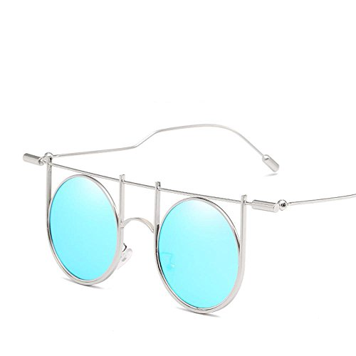 Biutefang occhiali da sole da uomo donna il versione cool personalità di stile di occhiali da sole tendenza a piedi show stile europeo e americano nuovi occhiali da sole r etro