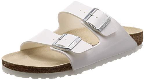 Birkenstock arizona, sandali a punta aperta, unisex – adulto, bianco (weiss), 38 eu