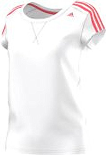 Adidas t-shirt pour femme essentials 3S Blanc - Blanc/rose